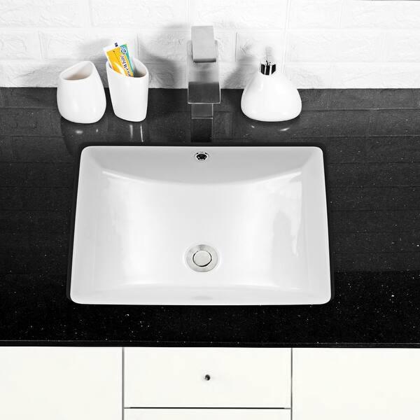 21 X 14 Rectangle Undermount Bathroom Sink Overstock 31796137