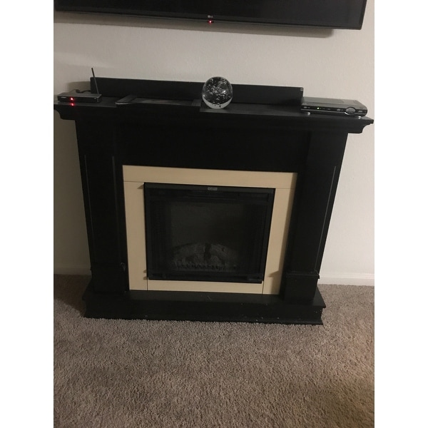 shop silverton electric fireplace black by real flame free rh overstock com silverton electric fireplace white by real flame silverton electric fireplace in white