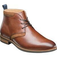 Florsheim Men's Uptown Plain Toe Chukka Boot Cognac Leather
