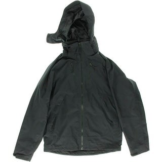 The North Face Mens Hooded Long Sleeves Jacket - Black
