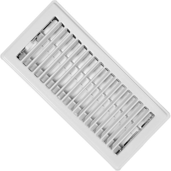 "Imperial Mfg RG0157 Standard Floor Register, 2-1/4""x10"", White"