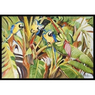 Carolines Treasures JMK1010JMAT Three Blue Parrots Indoor & Outdoor Mat 24 x 36 in.