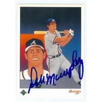 Dale Murphy Autographed Baseball Card Atlanta Braves 1989 Upper