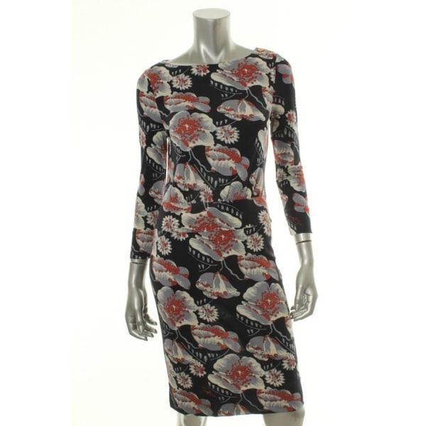 c3782606278 Shop Tory Burch Womens Sheila Casual Dress Silk Blouson - l - Free Shipping  Today - Overstock.com - 19389633
