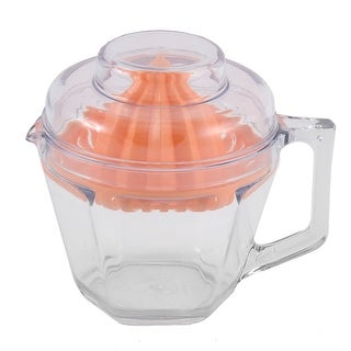 Unique Bargains Houshold Kitchen Plastic Cup Design Extracting Juice Manual Juicer Squeezer