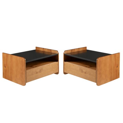 Carson Carrington Floating 1-Drawer Nightstands, Set of 2