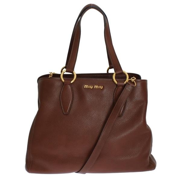 8823cf0d8656 Shop miu miu Miu Miu Vitello Diano RR1901 2E67 F0038 - One Size ...