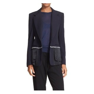 DKNY NEW Navy Blue Womens Size 12 Notch-Collar Inside-Out Blazer