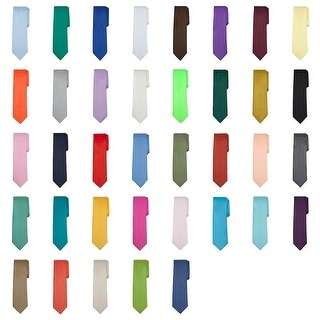 Jacob Alexander Solid Color Men's Regular Tie - One size