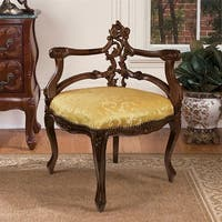 French Salon Corner Chair DESIGN TOSCANO Furniture  Chair  Chairs  Corner Chair