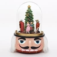 Nutcracker Ballet Animated Musical Glass Glitterdome Christmas 120mm Snow Globe