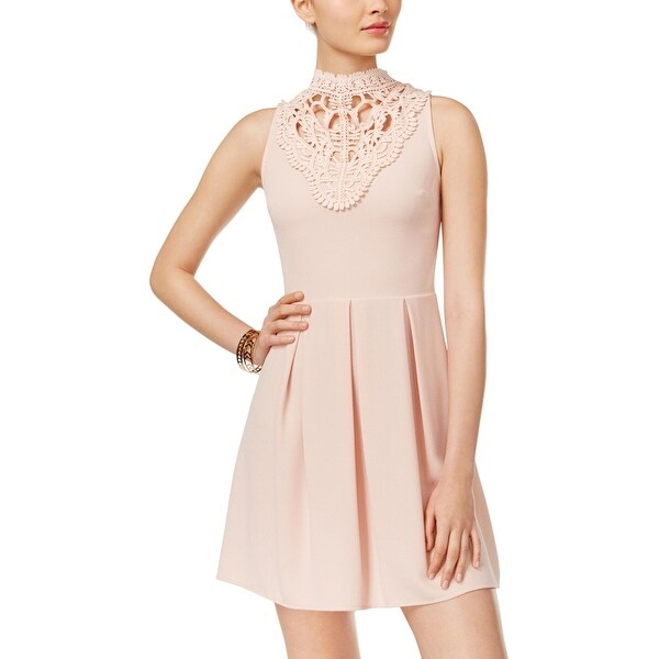 58c496ceaea1d Shop Speechless Womens Juniors Party Dress Crepe Fit & Flare - M - Free  Shipping On Orders Over $45 - Overstock.com - 20371653