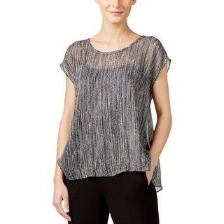 Eileen Fisher Womens Casual Top Swing Printed