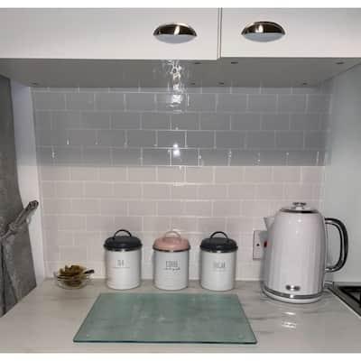 """Art3d 12""""x12"""" Peel and Stick Backsplash Tile for Kitchen, Subway Tile(10-Pack)"""