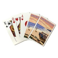 Long Beach Island Nj Woody On Lp Artwork Playing Cards Deck