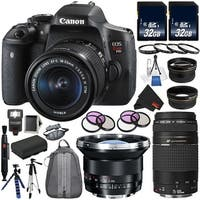 Canon EOS Rebel T6i DSLR Camera with 18-55mm Lens + Canon EF 75-300mm f/4-5.6 III USM Lens + BATTERY FOR CANON LPE17 Bundle