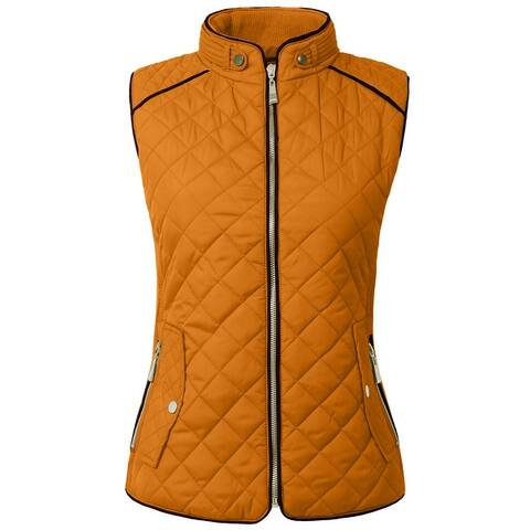 NE PEOPLE Womens Lightweight Quilted Zip Vest (NEWJ40)