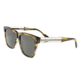 Bottega Venetta BV0098/S 003 Khaki Square Sunglasses - 54-19-145