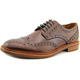 Gordon Rush Langdon Men Wingtip Toe Leather Brown Oxford