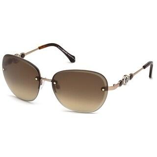 Roberto Cavalli RC783S-34G Women's Light Bronze Brown Mirror Lens Sunglasses - Gold
