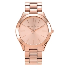 Michael Kors Women's 'Runway' MK3197 Rose Goldtone Rose Dial Bracelet Watch