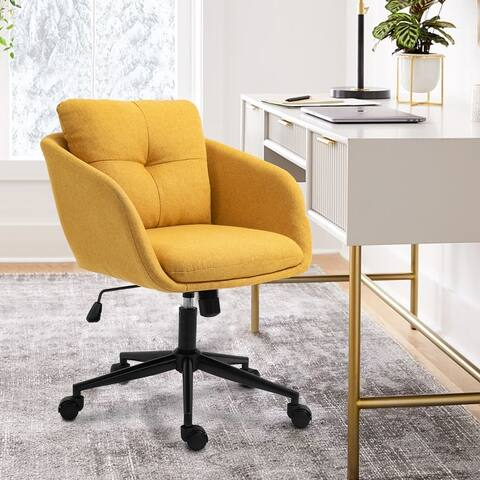 "Adjustable Height Fabric Qffice Chair Swivel Modern chair - 27""x19""x19"""