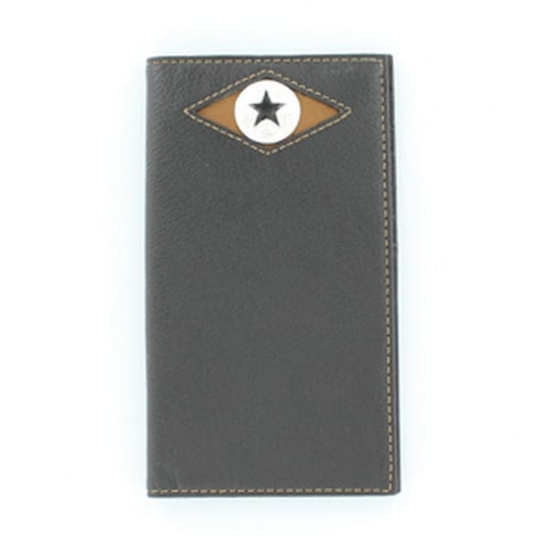 Nocona Western Wallet Mens Classic Leather Rodeo Star Concho - One size