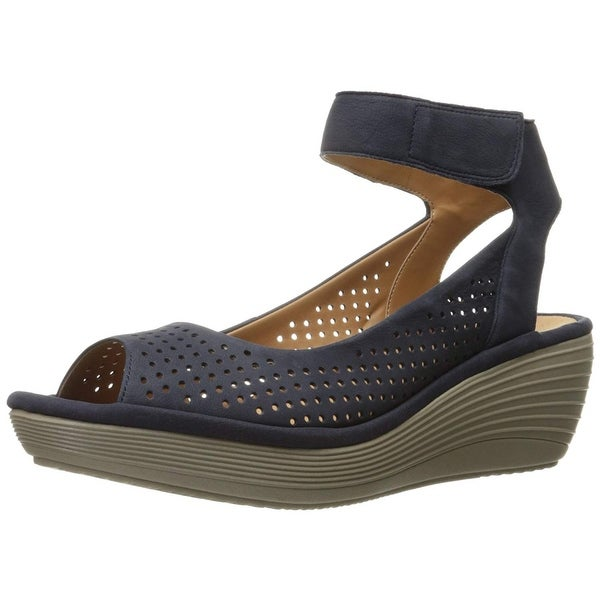 bac92a664db4 Shop CLARKS Women s Reedly Salene Wedge Sandal - Free Shipping Today ...