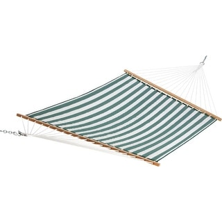 The Hammock Source Grn/Wht Quilted Hammock