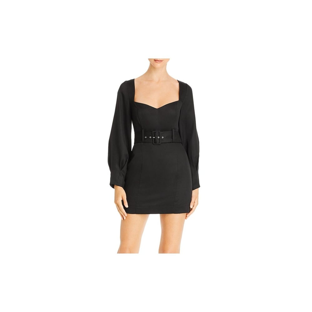 Fame And Partners Womens V Neck Cut Out Back Cocktail Dress BHFO 5038