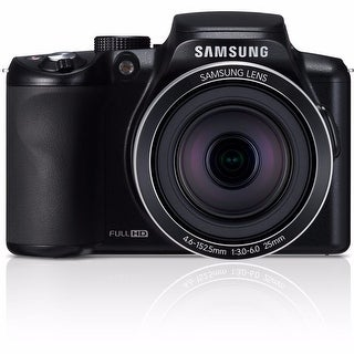 Samsung WB2100 16.4MP Cobalt Black Digital Camera 16GB Bundle