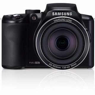 Samsung WB2100 16.4MP Cobalt Black Digital Camera 16GB Bundle