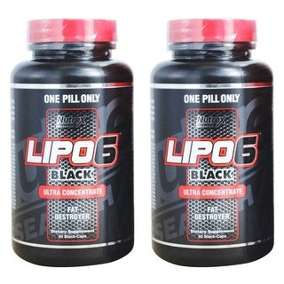 Nutrex Research Lipo-6 Black Ultra Concentrate Weight Loss Supplement, 2 Bottles, 120 ct total