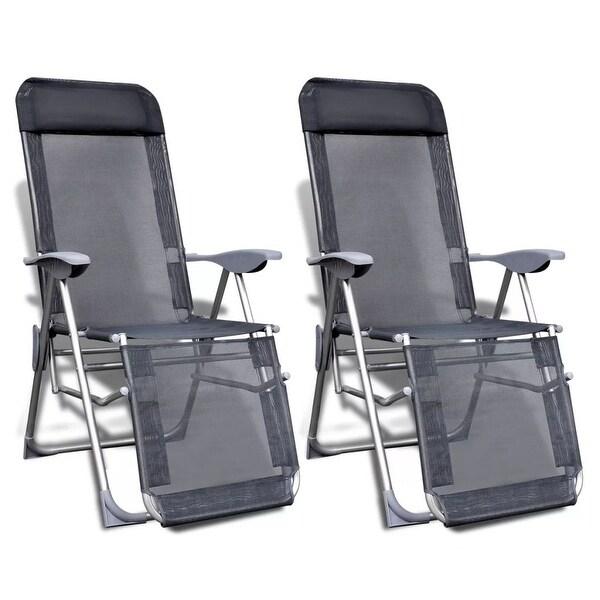 Reclining Camping Chair Folding Lightweight Aluminium Outdoor Garden Recliner