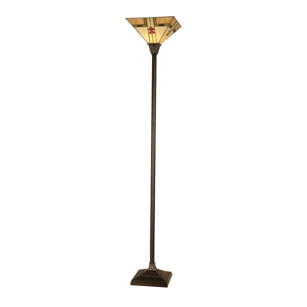 Dale Tiffany TR11061 Arrowhead Mission Torchiere with 1 Light - mica bronze