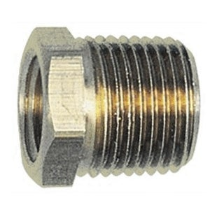 "Forney 75535 Brass Air Hose Bushing, 1/4"" x 3/8"""