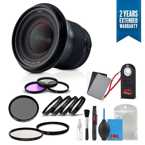 Zeiss Milvus 21mm f/2.8 ZE Lens for Canon EF - 2096-549 with Cleaning Accessory Kit and 2 Year Extended Warranty