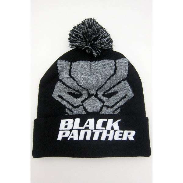 9343e361101 Shop Marvel Black Panther Pom Beanie with Embroidered Logo