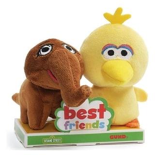 Sesame Street Big Bird and Mr. Snuffleupagus 4 Inch BFF Plush Set - Yellow