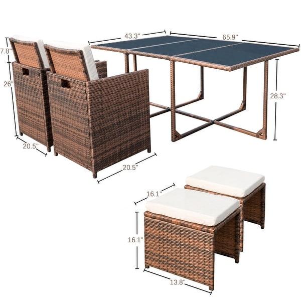 Homall 11-piece Outdoor Patio Dining Set