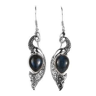 Link to Shop LC Platinum Over 925 Sterling Silver Labradorite Earrings Ct 5.8 Similar Items in Earrings