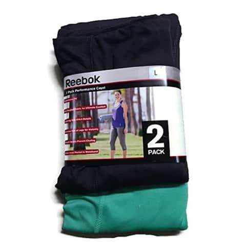 Reebok Women's 2 Pack Performance Capri