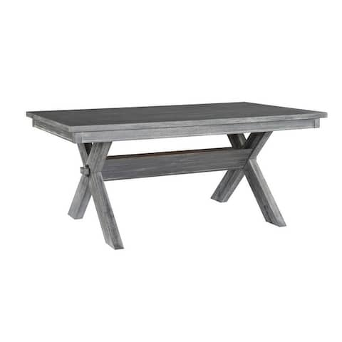 Chester Rustic Farmhouse Dining Table - N/A