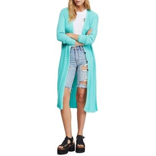 Link to Free People Womens Duster Cardigan Sweater, Green, X-Small Similar Items in Women's Sweaters
