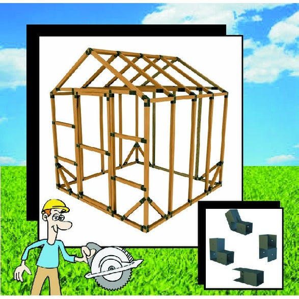 8X8 E-Z Frame Standard Greenhouse or Storage Shed Structures Kit (lumber not included)