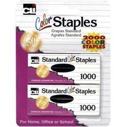 Assorted - Color Staples 2;000/Pkg