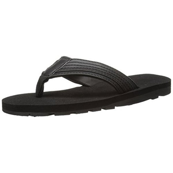 Wembley Mens Flip-Flops Faux Leather Sandals - L
