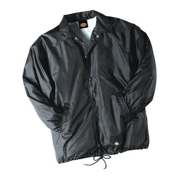 bc0c265a9d8 Shop Dickies Men s Snap Front Nylon Jacket Black - On Sale - Free Shipping  On Orders Over  45 - Overstock - 9705094