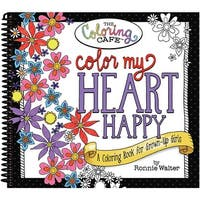 The Coloring Cafe' Coloring Book-Color My Heart Happy