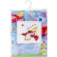 """Valentine Counted Cross Stitch Kit-8""""X6.75"""" 14 Count"""